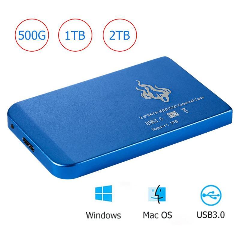 Portátil 2 1TB TB 500GB 2.5 polegada USB 3.0 External Hard Disk Drive HDD SATA III Rígido Móvel disco HD Para PC Desktop Computador Portátil