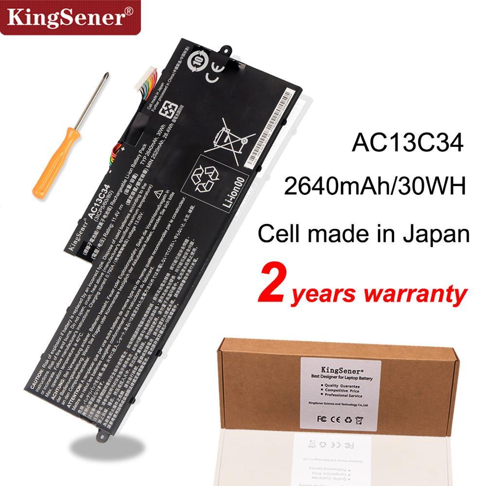 KingSener New AC13C34 Laptop Battery For Acer Aspire V5-122P V5-132 E3-111 E3-112 ES1-111M MS237 KT.00303.005 11.4V 2640mAh/30WH