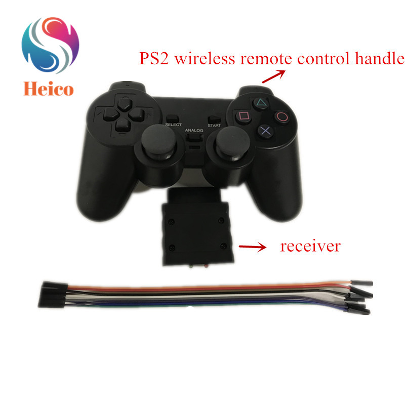 2.4G Wireless PS2 Remote Control Handle With Receiving Module For Smart Car Robot Arm Manipulator Servo RC Toy
