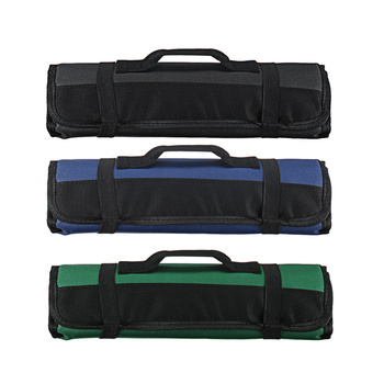 4 Colors Choice Chef Knife Bag Roll Bag Carry Case Bag Kitchen Cooking Portable Durable Storage 22 Pockets Black Blue Green 2