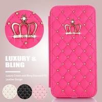 Custodia a portafoglio corona di lusso femminile antiurto per iPhone 12 mini SE 11 Pro Xr X Xs Max 8 Plus 7 6S 6 porta carte custodia in pelle Flip