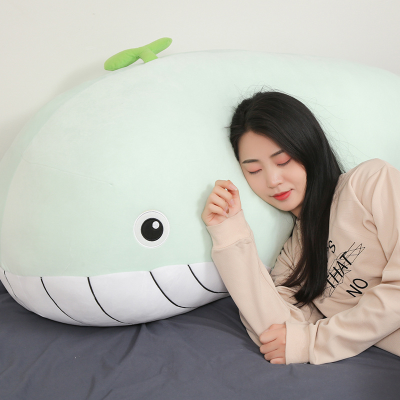 Whale Pillow Soft Toy Stuffed Animal Shark Lovely Children's Birthday Gifts Cartoon Plush Toy Sea Animal Big Blue Whale Toys