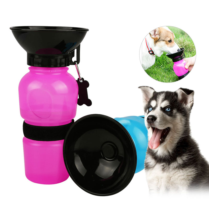 500ml Dog Pet Drinking Bottle Cat Feeding Bowl Portable Dog Water Dispenser Squeeze Bottle Pet Supplies For Travel Outdoor