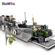 413pcs Blocks Toys for Children America Navy LCM3 Landing Craft Empires of steel Military Series Building Blocks Bricks