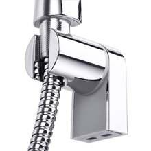 1 pçs ajustável abs chrome handheld chuveiro titular suporte ferroviário suporte deslizante chuveiro suportes de montagem na parede para chuveiro banho