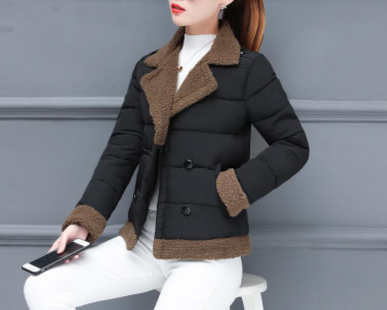 Hot 2020 Fashion Short Hooded Parkas Coat Women Winter Jackets Down Cotton Clothing Winter Coats Cotton Jacket