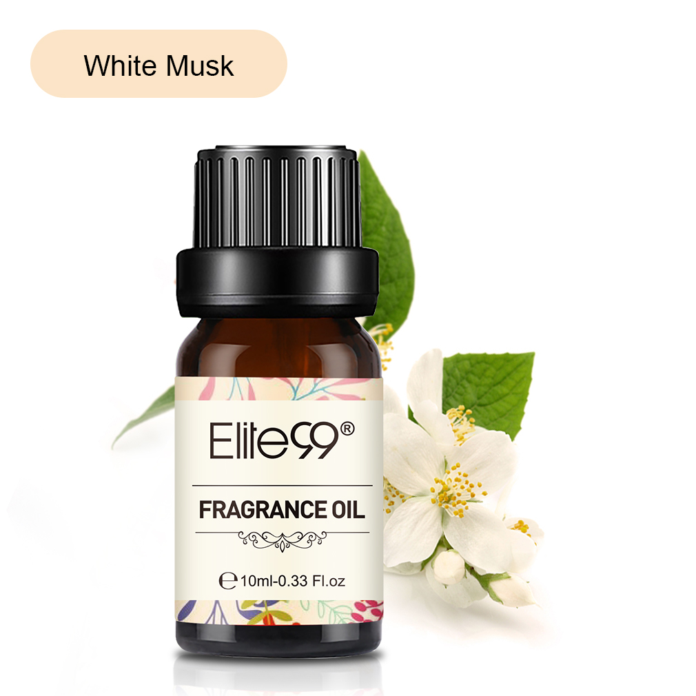 Elite99 10ml White Musk Fragrance Oil Flower Fruit Essential Oil For Aromatherapy Diffusers Freesia Black Orchid Strawberry Oil