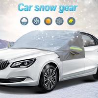 Cubierta de invierno para coche, parasol para nieve, impermeable, 2,5x1,6 m