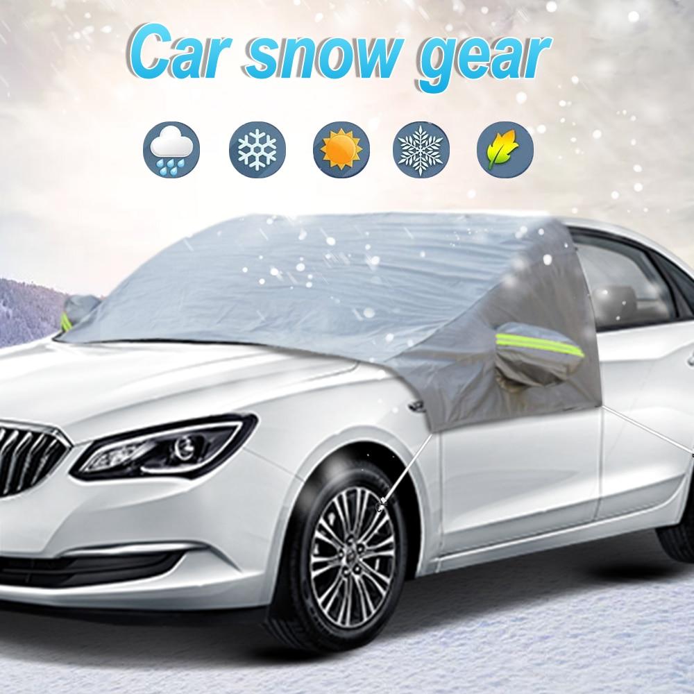 2,5x1,6 m Auto Winter Abdeckung Windschutzscheibe Schnee Sonne Schatten Wasserdichte Schutz Abdeckung Auto Vor Sonnenschirm Windschutz Abdeckung