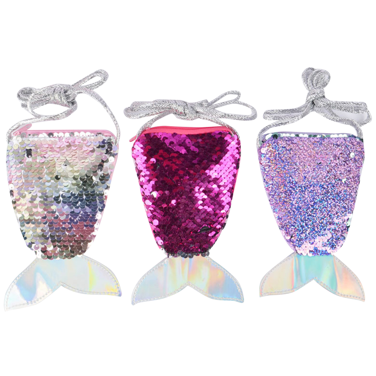 2019 Women Coin Purse Earphone Pouch Cute Bling Sequins Small Mini Money Wallet Bags Kids Zipper Purse Bag Gift With String