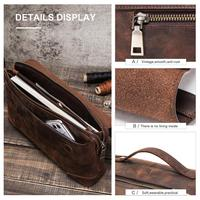 leather hand Nubuck Cowhide Leather case bag for IPad 7.9 inch with Hand Holder Soft Cover for IPad mini 1/2/3/4/5 Case Funda Full Protection (5)