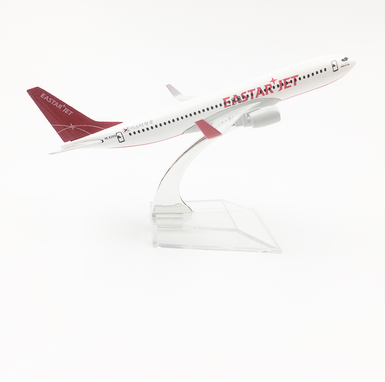 15cm 1/400 Scale Alloy Metal Air Korean EASTAR JET Airlines Boeing 737 B737 Airways Plane Model Aircraft Airplane W Stand Gift