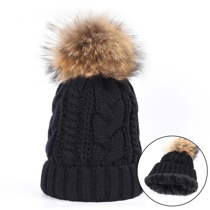 Winter burst large hemp Jersey ball cap children  warmth plus velvet knitting thickening