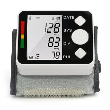 Wrist Blood Pressure Monitor LCD Digital Meter Cuff Measurement Tonometer Personal Health Blood Heart Care for Doctor's Home Use 1
