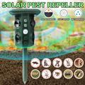 Repelente eletrônico ultrassônico pest ipx4 impermeável pir sensor de luz led ao ar livre jardim pássaro gato cão raposa repelente manter animais