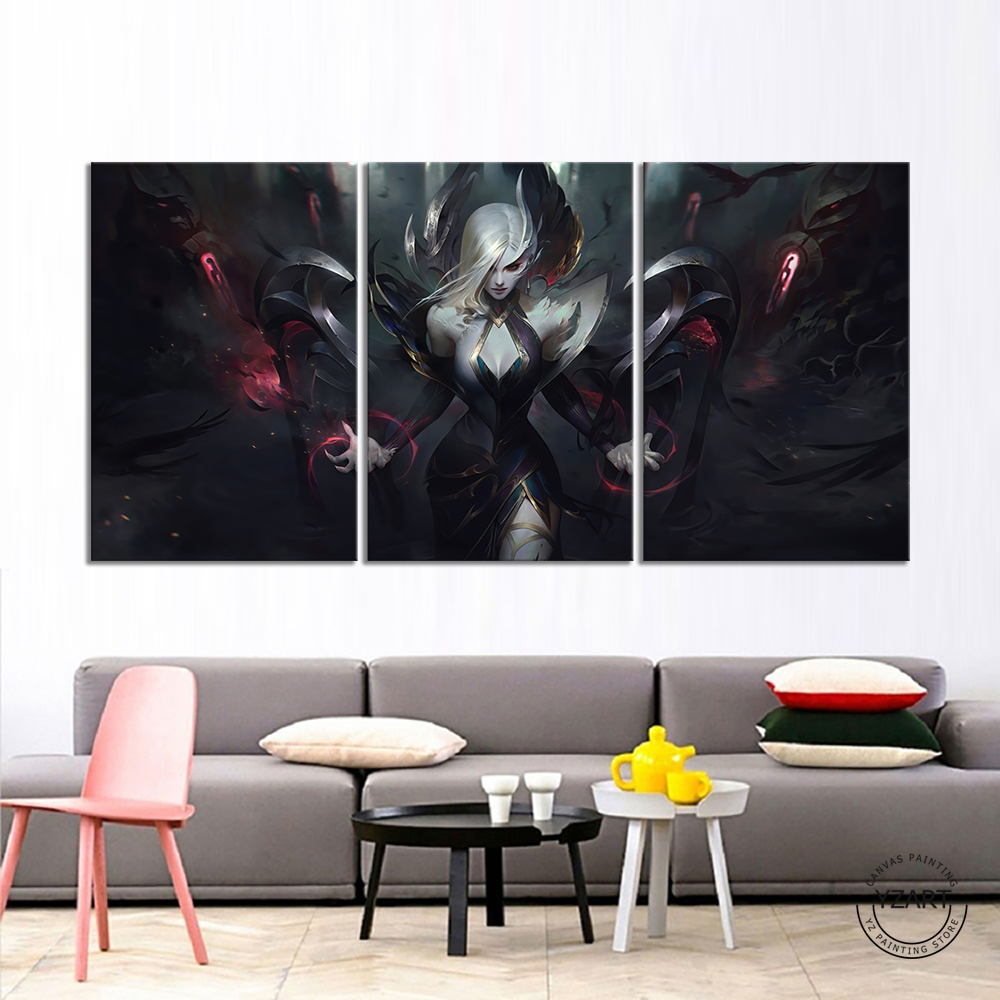 LOL Coven Morgana Pictures League of Legends Game Poster Wall Paintings for Home Decor,Unframed 3