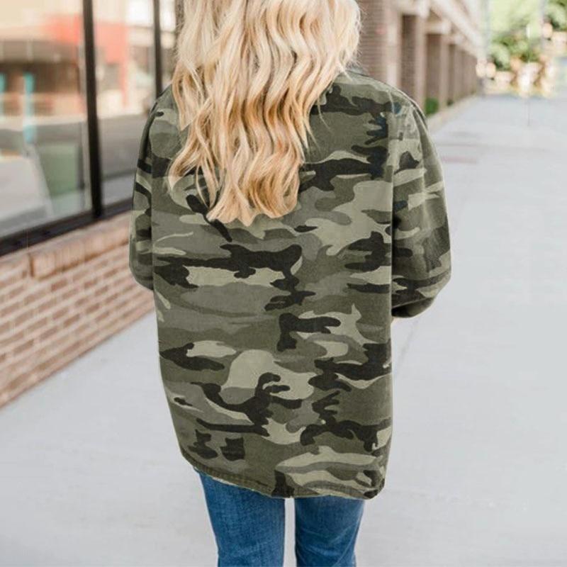 Hff0046d57ee843328510135c3668cfeeK Jacket Camouflage Coat Fashion Military Women Autumn Outwear Hot Sale Button Casual Army Green Women Jacket Outwear#J30