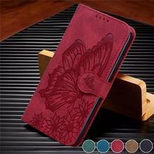 Mariposa Funda de teléfono para Xiaomi Redmi Note 9 Redmi Nota 9 para Xiomi Redmi Note9 Funda de cuero Funda de tarjeta monedero