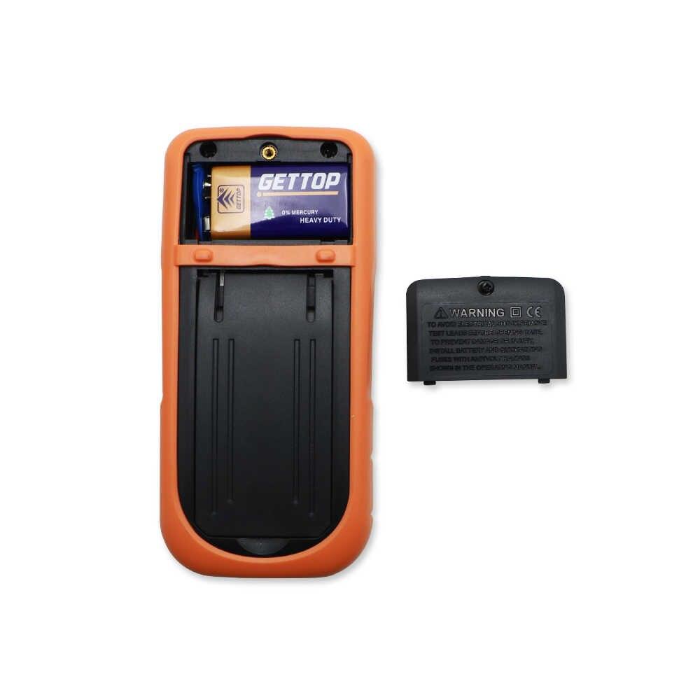 Multímetro Digital portátil shahe VC202 LCD retroiluminación portátil de CA/CC amperímetro voltímetro multímetro digital comprobador de corriente