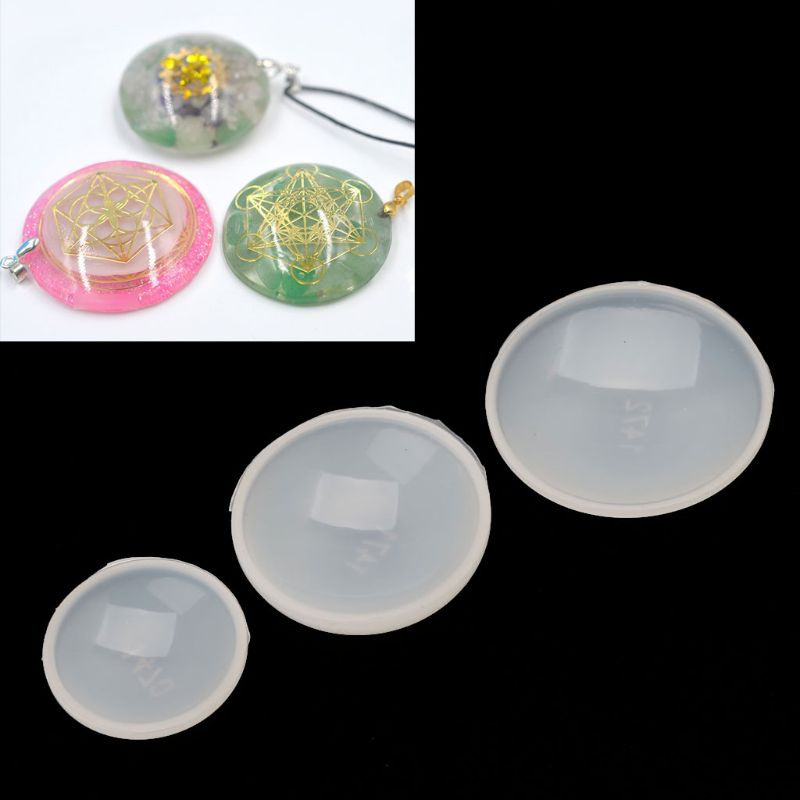 Flat Half Round Organ Energy Tower Pendant Silicone Epoxy Resin Mold Jewlery Making