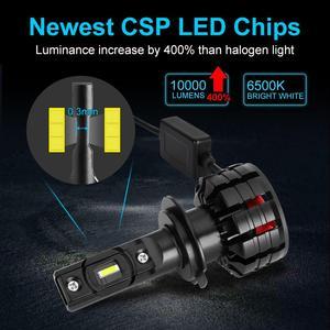 Image 2 - 2 個 H1 H3 H4 H7 Led Canbus H8 H11 HB3 9005 HB4 9006 Led ヘッドライトミニ 12000LM 車のライト電球エラーフリーの自動ランプ 5300 18K