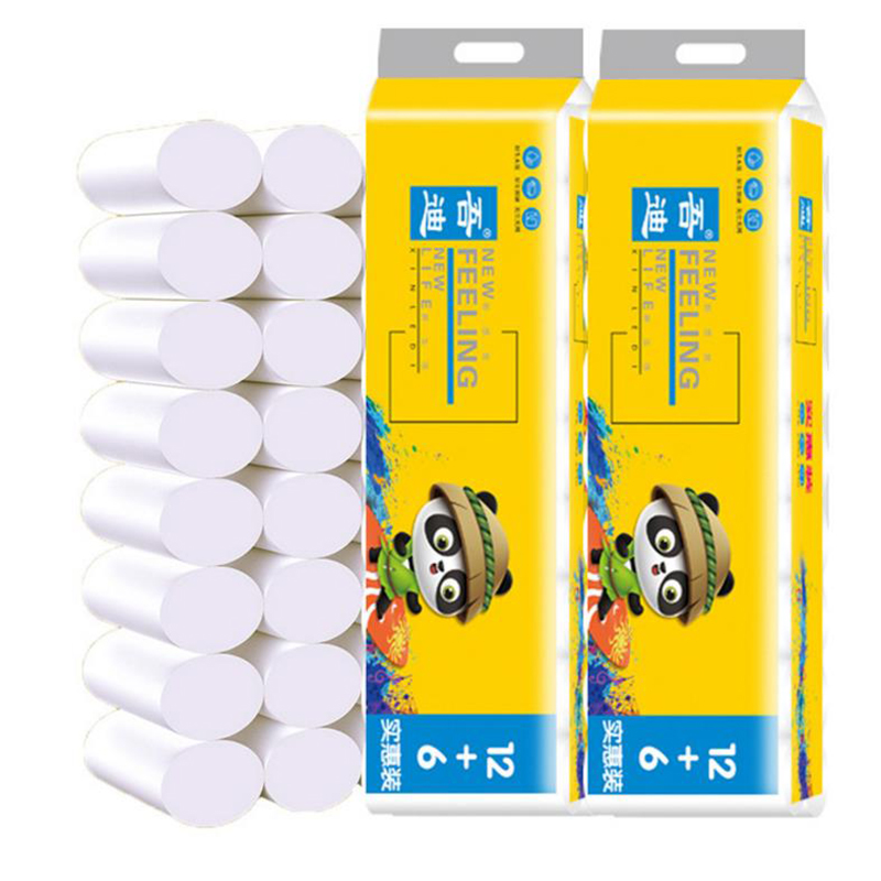 18 Rolls 4 Layer Toilet Tissue Home Bath Toilet Roll Toilet Paper Soft Toilet Paper Skin-friendly Paper Towels New