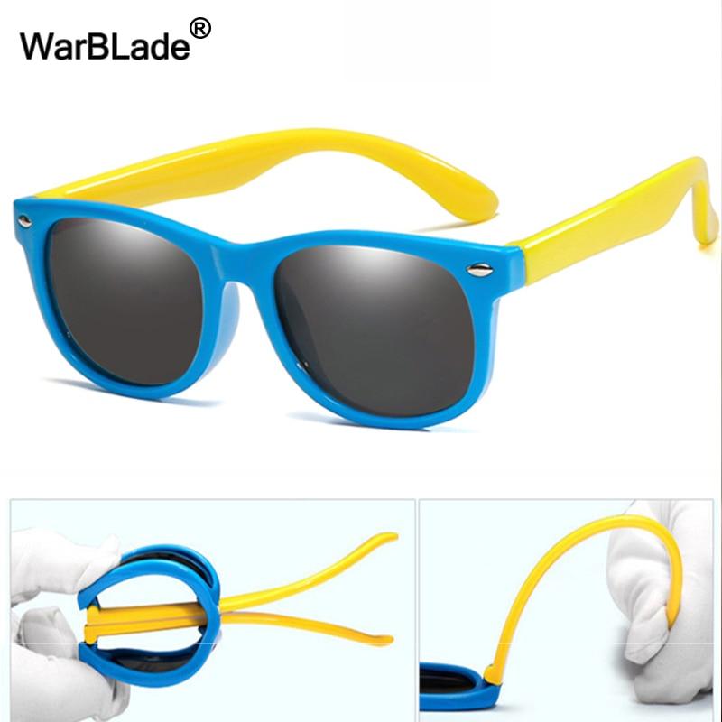 Детские Силиконовые солнцезащитные очки WarBlade, гибкие поляризационные очки для мальчиков и девочек, UV400