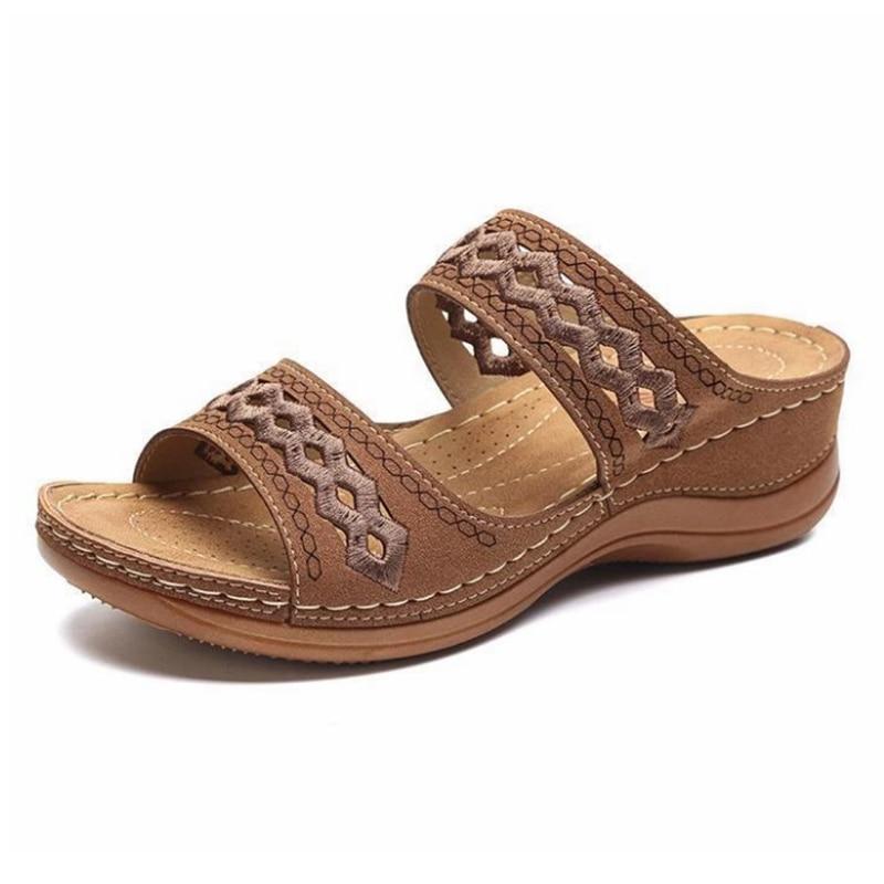 Shoes Woman Summer Comfortable Women Wedges Sandals Platform Casual Non-Slip Roman Women's Sandals Beach Soft Female Loafers 2