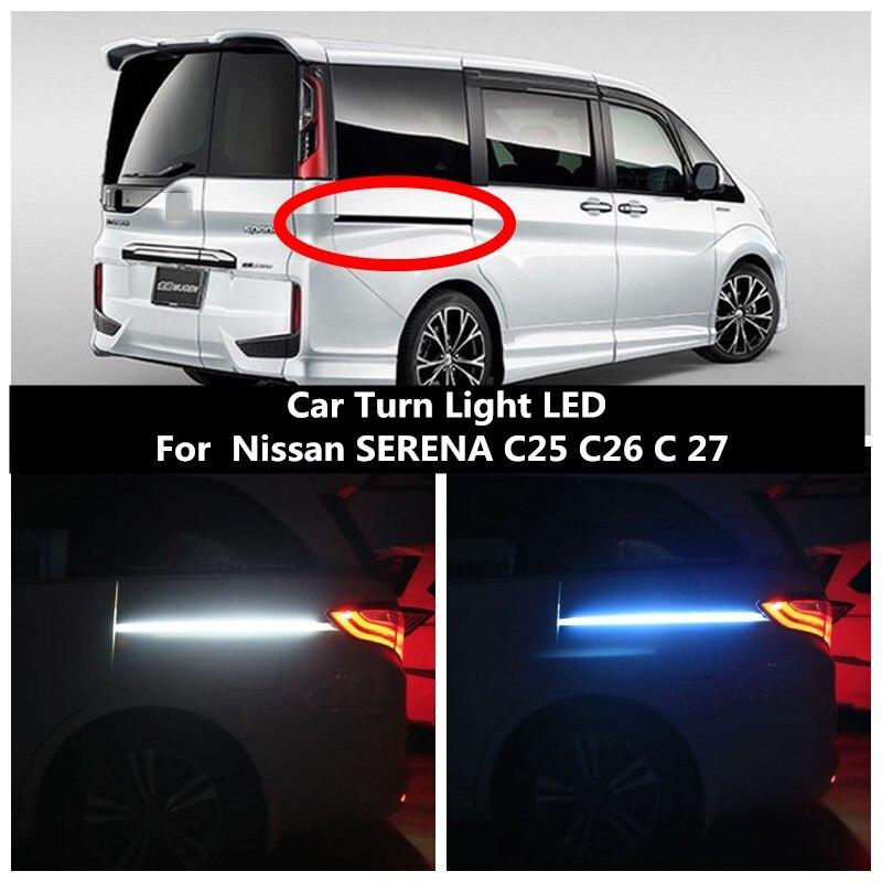 Car Turn Light LED Track Light Atmosphere Light Door Light 12V 6000K For Nissan SERENA C25 C26 C 27