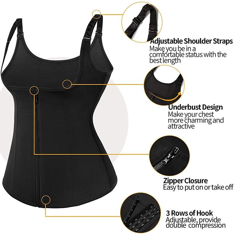 Suana Vest Tummy Control Waist Trainer Zipper