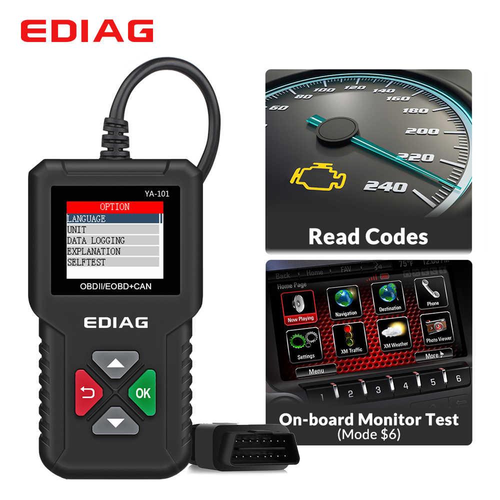 YA101 OBDII/EOBD 16Pin OBD2 kod okuyucu ücretsiz USB güncelleme EDIAG YA101 OBD 2 teşhis aracı tarayıcı PK Cr3001 kod okuyucu