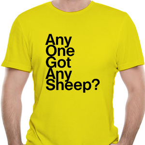 Any One Got Any Sheep Settlers Of Catan T Shirt Men T-Shirts Crewneck Board Wheat Sheep Wood Game Tee Short Sleeve-5565A(China)