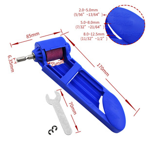 Image 3 - 2 12.5 مللي متر المحمولة اكسيد الالمونيوم طحن عجلة لل طاحونة أدوات مبراة لقمة مثقاب ل حفر مبراة الطاقة أداة