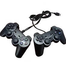 2PCS USB Wired PC Game Controller Gamepad Shock Vibration Joystick Game Pad Joypad Control for PC Computer Laptop Gaming Play wired usb gamepad joystick for n64 classic game controller joypad for windows pc mac control