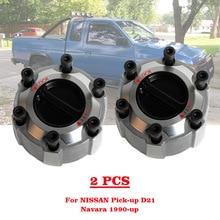 Bujes de bloqueo Manual para camioneta NISSAN, 40250 2S610, Pathfinder y Navara D21/D22 90, 402502S610, 2 unidades