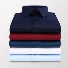 Business-Shirt Long-Sleeve White Casual Plus-Size Fashion 5xl 6xl Brand Slim 7xl Men