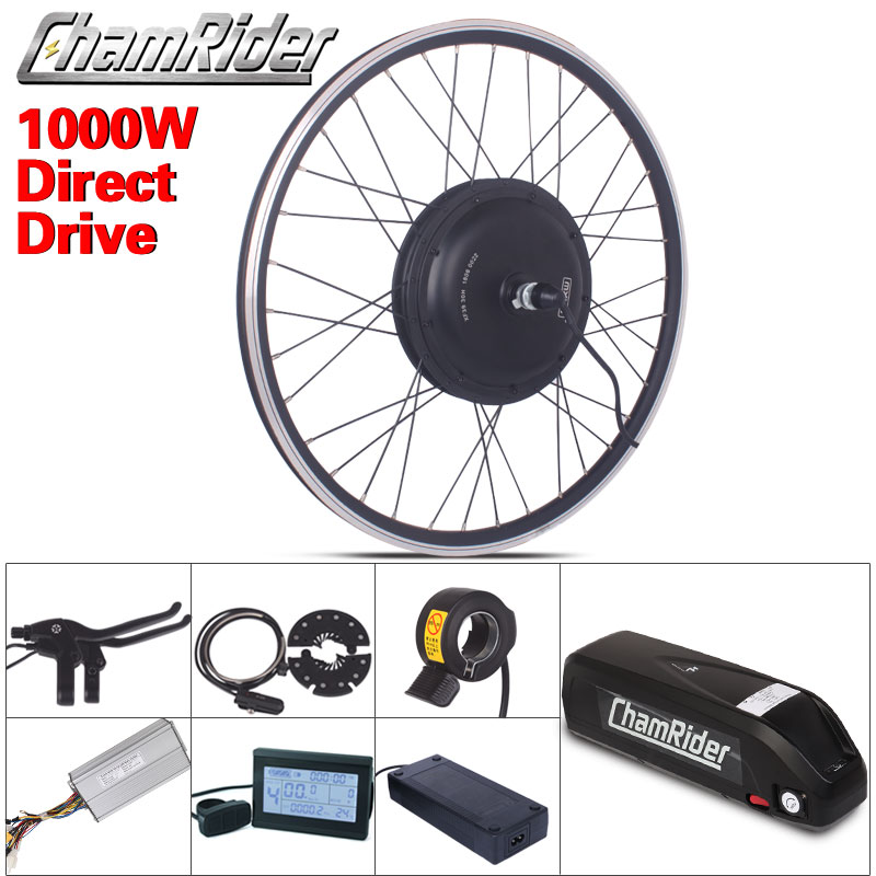 1000W 48V 52 13AH 17AH e-велосипеда Электрический Conversion Kit XF39 XF40 30H код приводной двигатель MXUS хайлон Батарея ЖК-дисплей трещотки