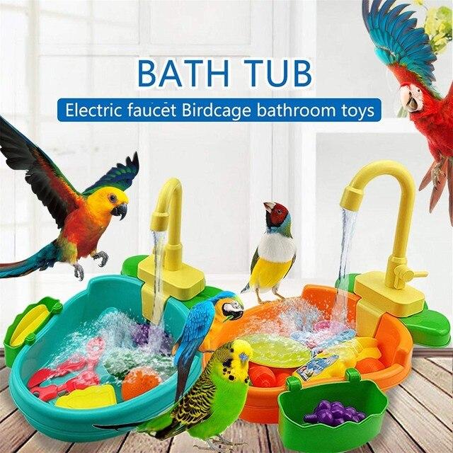 "Automatic Parrot Bathtub Swimming Pool ""Big Boy"" Parrot Supplies - Pets Alpha  5"
