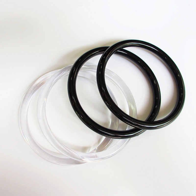 1 Pc Thuis Zak Ronde Plastic Purse Handvat Vervanging Diy Handtas Accessoires Maken Winkelen Tote Onderdelen Handvatten Om Maken Tassen hot