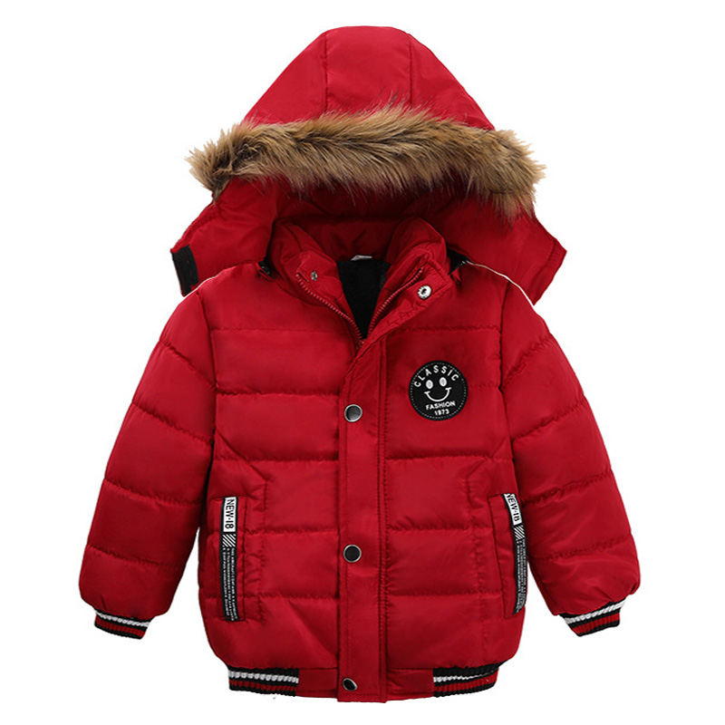 Toddler Kids Warm Autumn Winter Jackets Boys Outerwear Coats Christmas Baby Coat Snow Wear Boys Parka Snowsuit With Fur Collar 6
