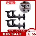 2/4 шт. 15X8cm трубы для супермаркетов открытого типа железа промышленные труба полка скобы для крепления держателя держатели для хранения стел...