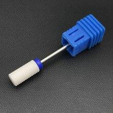 Белый керамический сверло для ногтей-большая бочка-средний высококачественный медицинский стоматологический боры