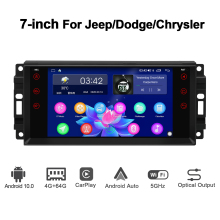 GPS Navigation Dodge/chrysler Autoradio Support Android 10.0 Stereo for 4G/BT 4GB 64GB-ROM