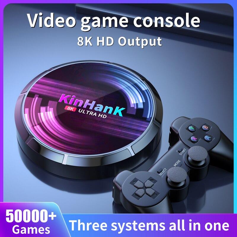 רטרו WiFi וידאו משחק קונסולת סופר קונסולת X מקסימום עבור SS/PS1/PSP/N64/DC/SNES משחק נגן 4K HD H96 משחק/טלוויזיה תיבה עם 50000 + משחקים
