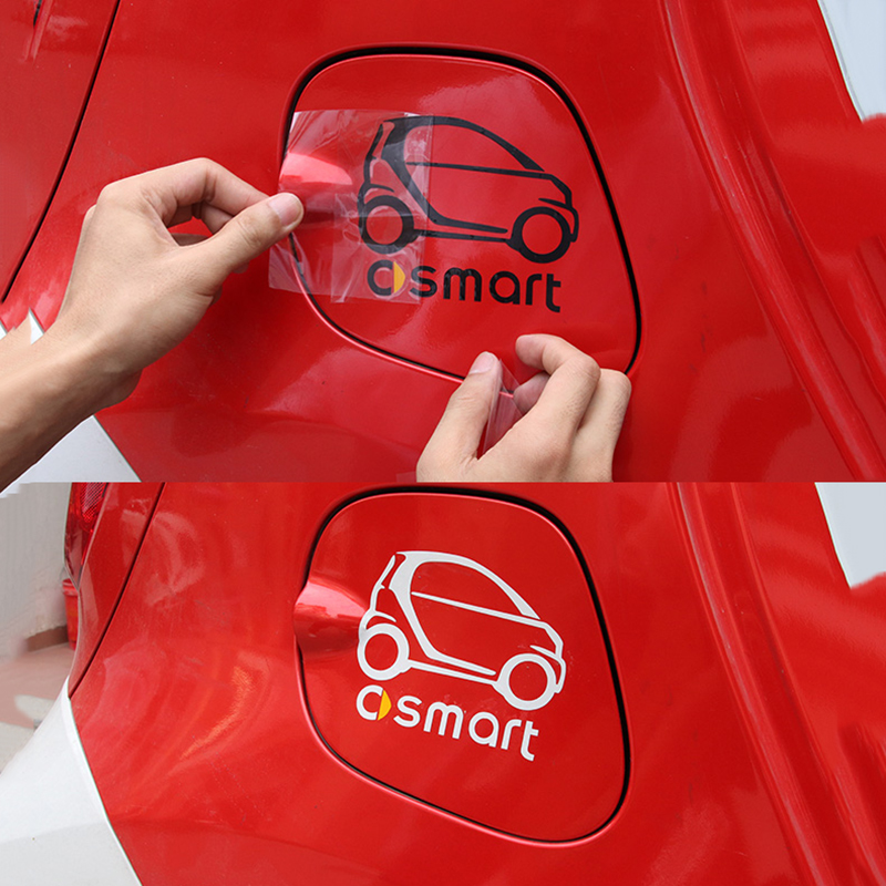 Car-styling Reflective Fuel Tank Cap Sticker And Decal <font><b>Accessories</b></font> For <font><b>Smart</b></font> <font><b>451</b></font> 453 <font><b>Fortwo</b></font> Forfour Forjeremy Forspeed Forstars image