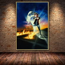 Back to the Future Movie Oil Painting on Canvas Posters and Prints Cuadros Wall Art Pictures For Living Room Home Decor wall art canvas print back to the future 1 2 3 hot movie poster for living room decor bar decoration