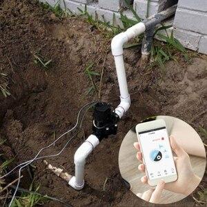 Image 4 - 1.3 Cal zawór wody dla WiFi TUYA kontroler inteligentny uchwyt gazu wody zawór kontroler garnitur dla domu i na zewnątrz nawadniania Promo
