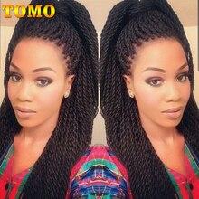 TOMO, 16 дюймов, 20 дюймов, 30 прядей, Омбре, маленькая косичка, волосы для наращивания, Длинные Синтетические Сенегальские вьющиеся косички, волосы для черных женщин
