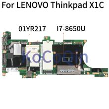 KoCoQin Laptop motherboard Für LENOVO Thinkpad X1 Carbon X1C Core I7-8650U 16GB RAM Mainboard SR3L8 NM-A481 01YR217