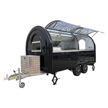 custom blue food truck mobile food trailer Mobile Food Truck Food Trailer Black 400x200x240cm